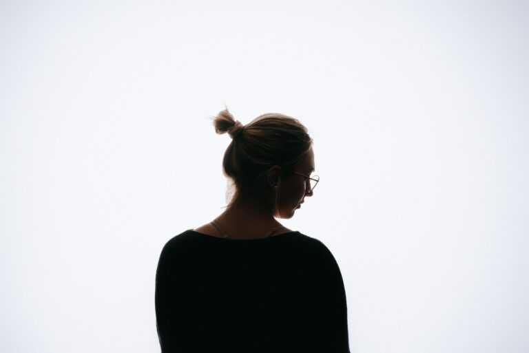 woman in black crew neck shirt