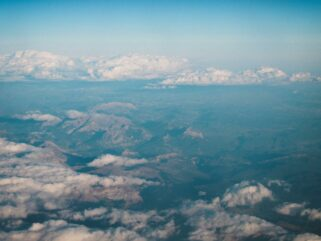 aerial view of white clouds and blue sky during daytime